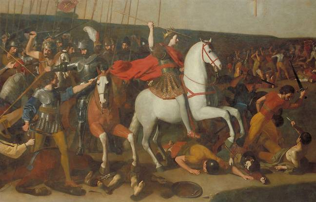La Bataille de Constantin contre Maxence, le tableau de 5,50 X 2,60 m du Musée des Augustins, pourtant incomplet.