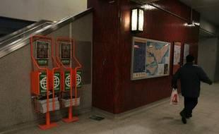 Dans le métro de Montréal.