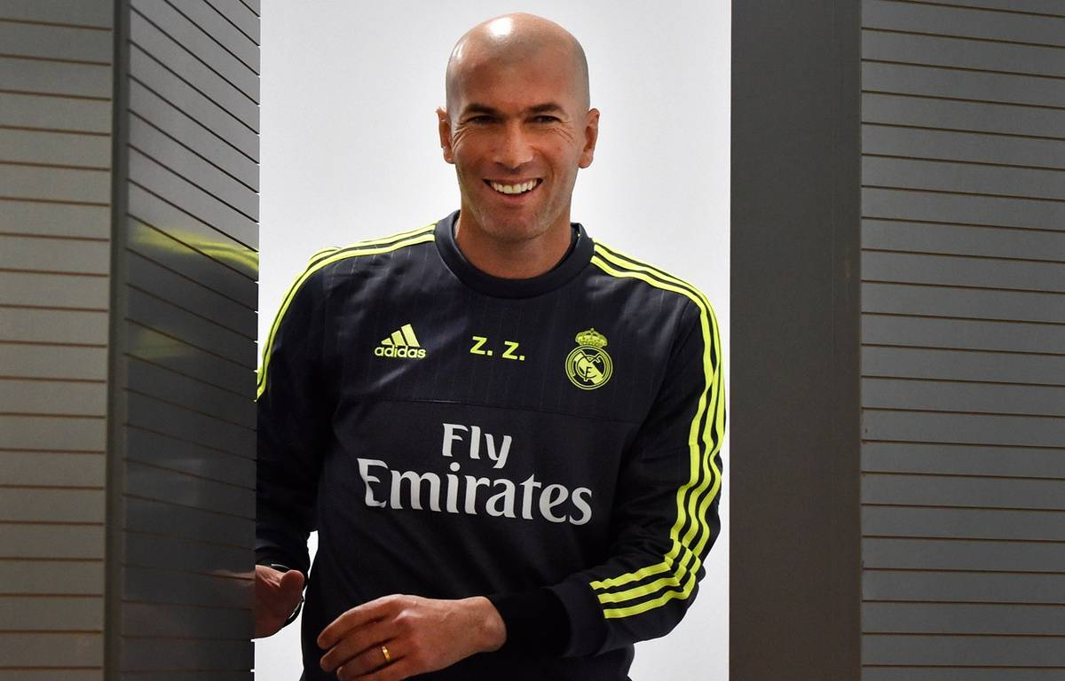 Zinédine Zidane, le nouvel entraîneur du Real Madrid, le 8 janvier 2016. – GERARD JULIEN / AFP