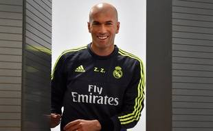 Zinédine Zidane, le nouvel entraîneur du Real Madrid, le 8 janvier 2016.