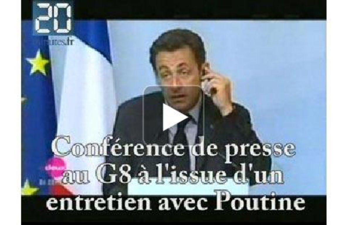 Le top 10 de la première année de Nicolas Sarkozy à l'Elysée. Une vidéo de 20minutes.fr – Capture d'écran