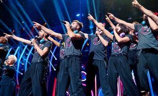 Les Enfoirés sur scène pour leur spectacle «Musique!» diffusé le 8 mars 2018 sur TF1