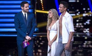 Camille Combal, Clara Morgane et Maxime Dereymez dans «Danse avec les stars »