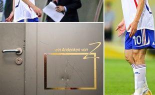 Le compte Twitter du Red Bull Leipzig a posté un «andenken» (souvenir, en VF) laissé par Zinédine Zidane sur la porte d'un vestiaire du stade lors de la Coupe du monde 2006.