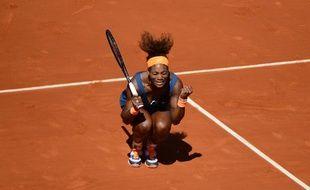 La joueuse de tennis Serena Williams lors de sa victoire contre Svetlana Kuznetsova le 4 juin 2013 à Roland-Garros.