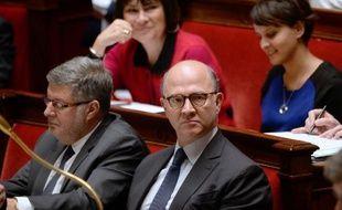 """Le ministre de l'Economie Pierre Moscovici a répété mercredi à plusieurs reprises que le """"pacte de responsabilité"""" proposé la veille aux entreprises par le chef de l'Etat n'avait pas été négocié avec le Medef comme le soupçonnent les syndicats et la gauche de la gauche."""