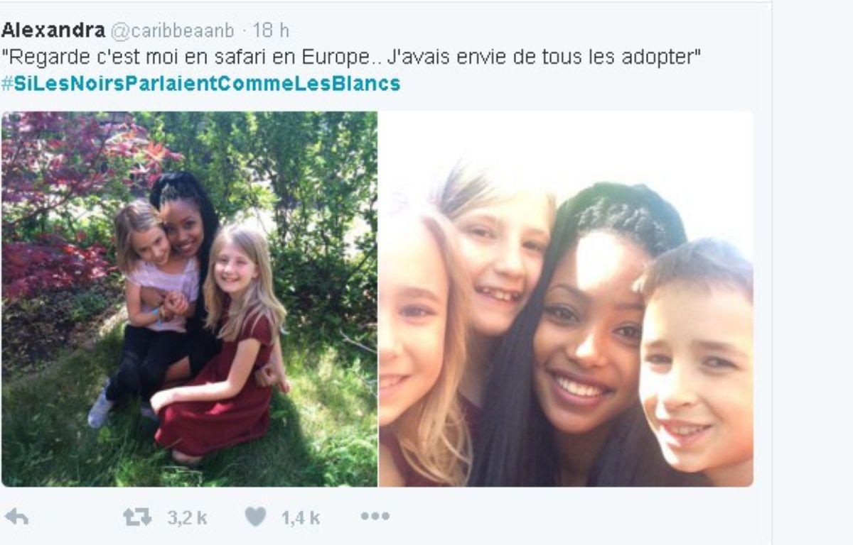 Le hashtag #SiLesNoirsParlaientCommeLesBlancs renverse les clichés. – Capture d'écran
