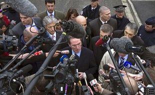 Le ministre de l'Intérieur Claude Gueant s'adresse aux journalistes le 22 mars 2012, à Toulouse, après la mort de Mohamed Merah.