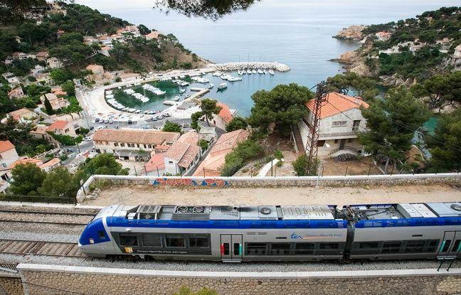 648x415 ensues la redonne le 31 mai 2011 le train de la cote bleue qui relie marseille a sausset en passant
