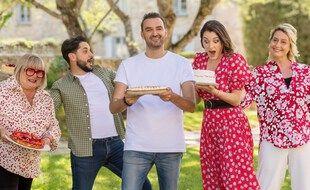 Cyril Lignac et les membres du jury de « Mon gâteau est le meilleur de France »
