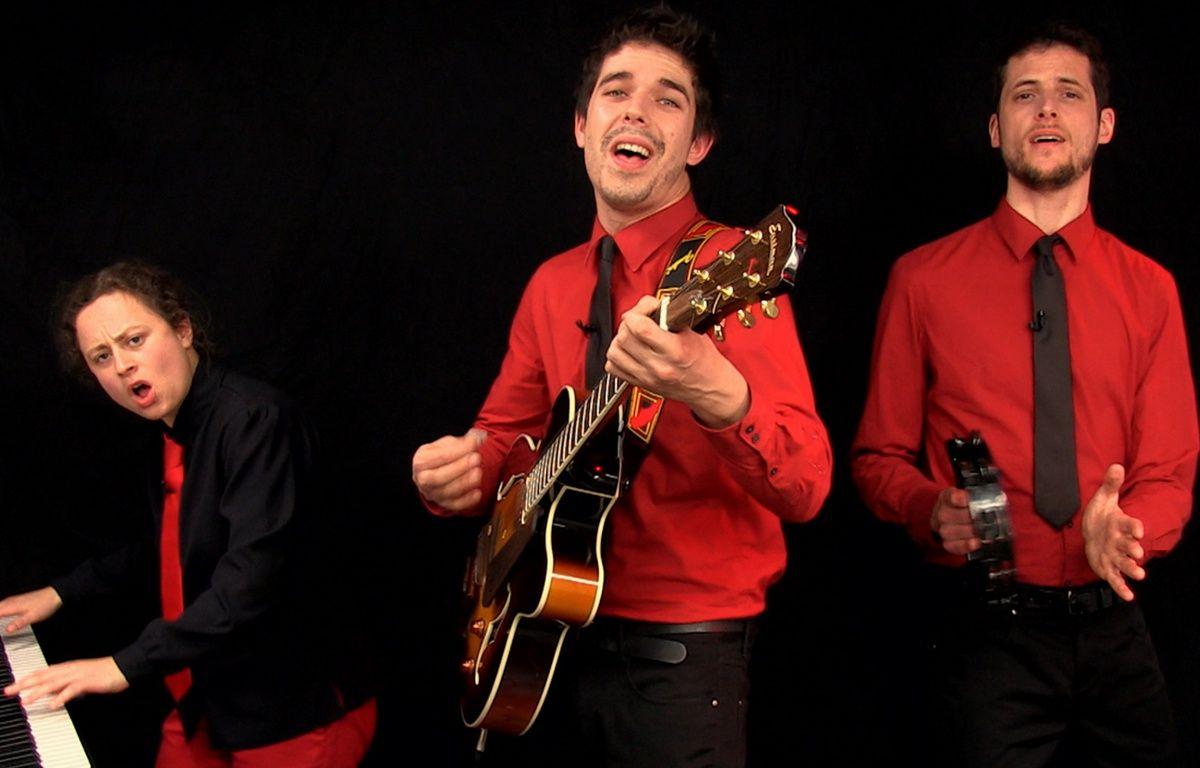 Capture d'écran de la vidéo «En marche ! Mais pas seul» - Goguettes (en trio mais à quatre) – 20 Minutes / Les Goguettes (en trio mais à quatre)