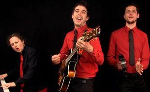 Capture d'écran de la vidéo «En marche ! Mais pas seul» - Goguettes (en trio mais à quatre)