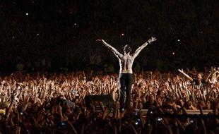 Le chanteur Dave Gahan lors du concert de Depeche Mode à Tel Aviv, Israël, le 10 mai 2009.