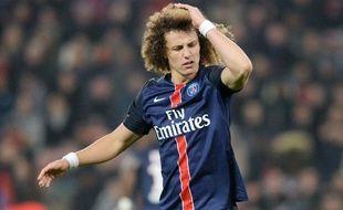 David Luiz lors du match entre le PSG et Lyon le 13 décembre 2015.