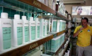 Les produits Ahava sur le site de production de Mitzpe Shalem à Kalya, au bord de la mer morte, le 12 juillet 2011