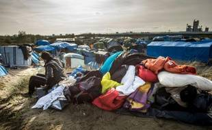 "La ""Jungle"" de Calais, le 29 octobre 2015, dans le nord de la France"