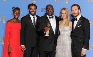 Le réalisateur Steve McQueen, le 12 janvier 2014, alors que «12 Years of Slave» a remporté le Golden Globe du meilleur film dramatique.