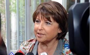 Martine Aubry réagit aux rebondissements dans l'affaire DSK le 1er juillet 2011 à Paris.