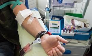 Illustration d'un don de sang en France.