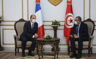 Jean Castex et son homologue tunisien, Premier ministre Hichem Mechichi