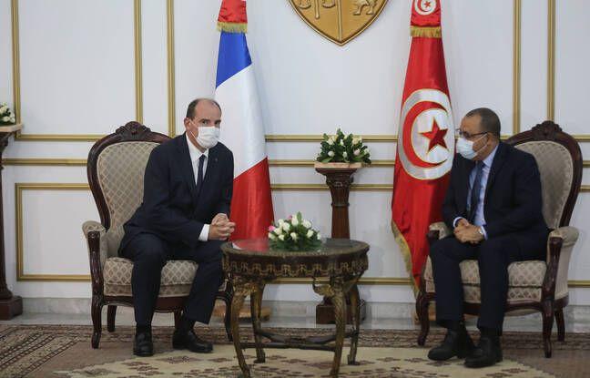 648x415 jean castex homologue tunisien premier ministre hichem mechichi