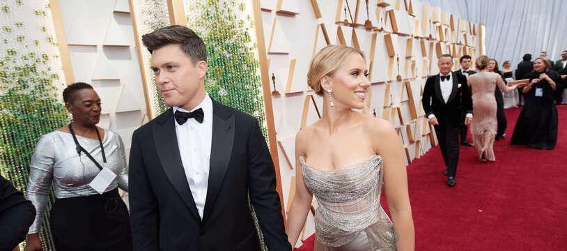 Les époux Colin Jost et Scarlett Johansson