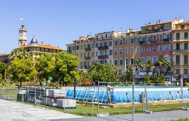 Nice: C'est nouveau! Une piscine tout l'été sur la promenade du Paillon