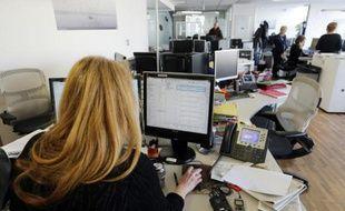 Une journaliste de l'AFP, à Paris, le 17 février 2014