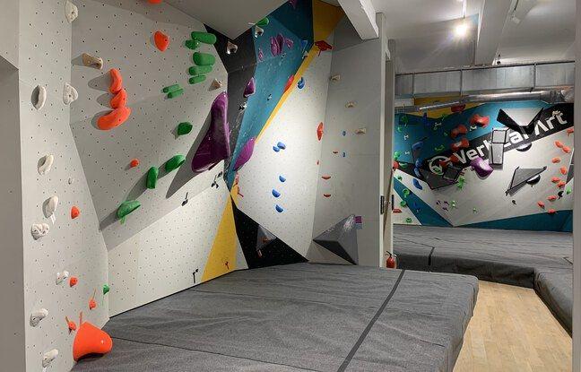 La salle d'escalade Vertical'Art à Chevaleret (Paris), le 9 juin 2021.