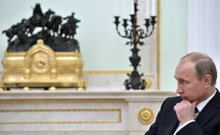 Le président russe Vladimir Poutine au Kremlin à Moscou le 21 mai 2015