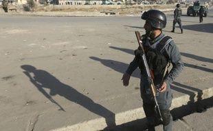 Un soldat afghan dans les rues de Kaboul.