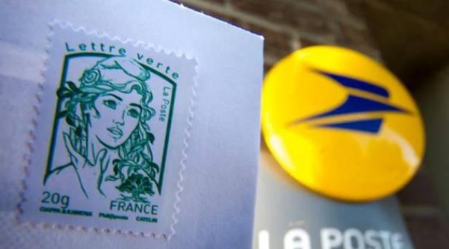 Un timbre de la Poste. – Philippe Huguen AFP