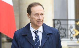Le président de la fédération des sports de glace, Didier Gailhaguet, en 2018 à l'Elysée.