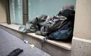 Une personne sans-abri. (Illustration)