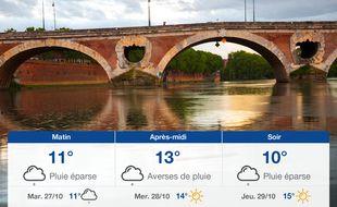 Météo Toulouse: Prévisions du lundi 26 octobre 2020