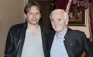 Mischa et Charles Aznavour en 2010
