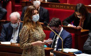 Marlène Schiappa dans l'hémicycle de l'Assemblée nationale en février 2021 (illustration)