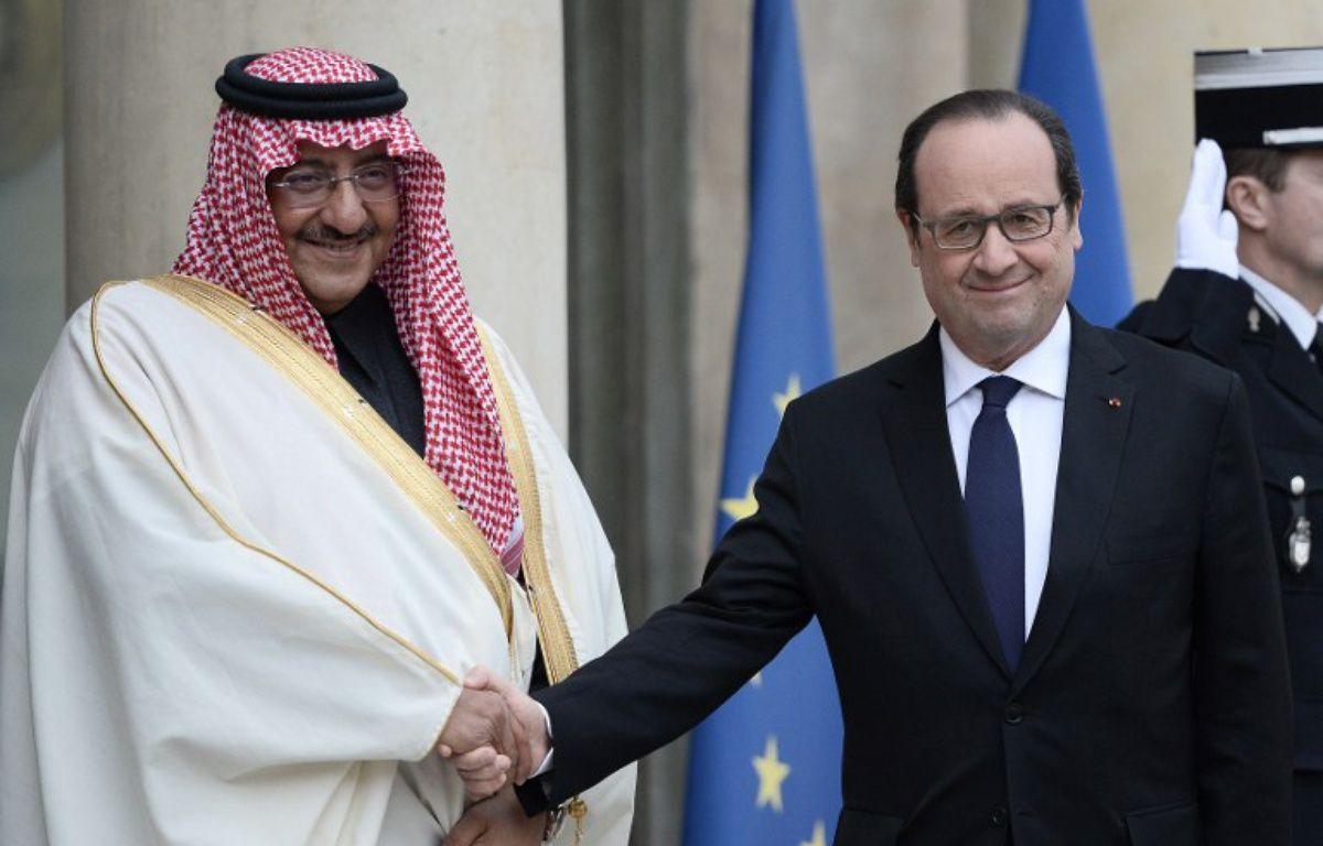 François Hollande et Mohammed ben Nayef à l'Elysée.  – STEPHANE DE SAKUTIN / AFP