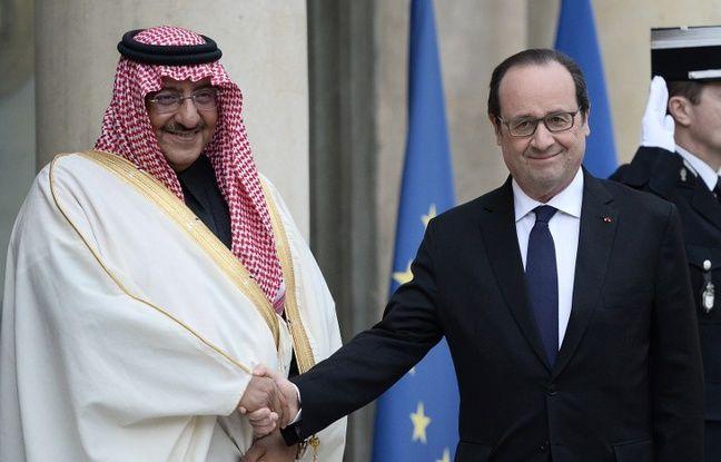 François Hollande et Mohammed ben Nayef à l'Elysée.