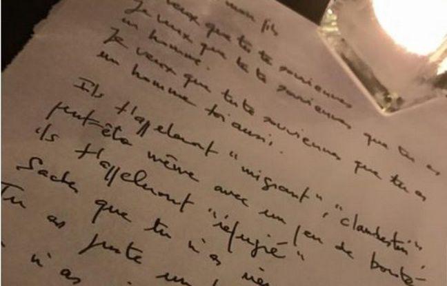 La lettre dans laquelle Lukman Khattat s'adresse à son fils a été rédigée une nuit, Quai d'Austerlitz, à Paris.