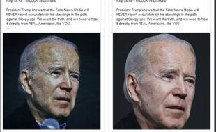 Le président Trump a lancé jeudi une campagne publicitaire sur Facebook, visant à discréditer son opposant politique Joe Biden.