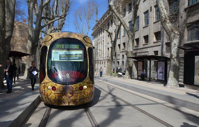La ligne 4, ici sur le boulevard Henri-IV, à Montpellier, est circulaire.