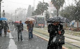 A l'hiver 2010, il avait neigé dans le centre de la capitale azuréenne (Archives).
