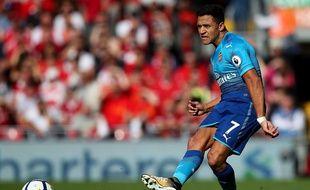 Alexis Sanchez le 28 août 2017 avec Arsenal, face à Liverpool.