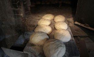 Du pain avant la cuisson, à Montmerrei, le 6 mars 2014