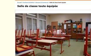 Une classe en vente sur Le Bon Coin.