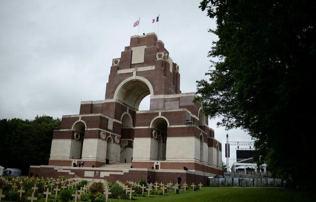 Le mémorial de Thiepval, le 1er juillet 2016 jour des célébrations du centenaire de la bataille de la Somme