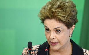Dilma Rousseff, présidente du Brésil, le 19 avril, à Brasilia.