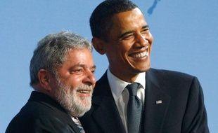 Le président brésilien, Lula(à gauche), au côté de Barack Obama, lors du sommet du G20, le 24 septembre 2009 à Pittsburg.