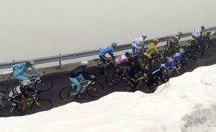 La neige sur le Giro, le 27 mai 2014